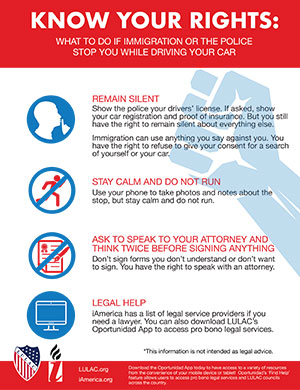 What to Do if Immigration or the Police Stop You While Driving Your Car