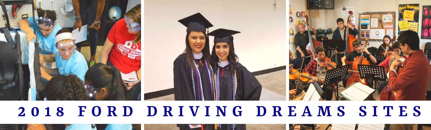 2018 Ford Driving Dreams Grants Program Sites
