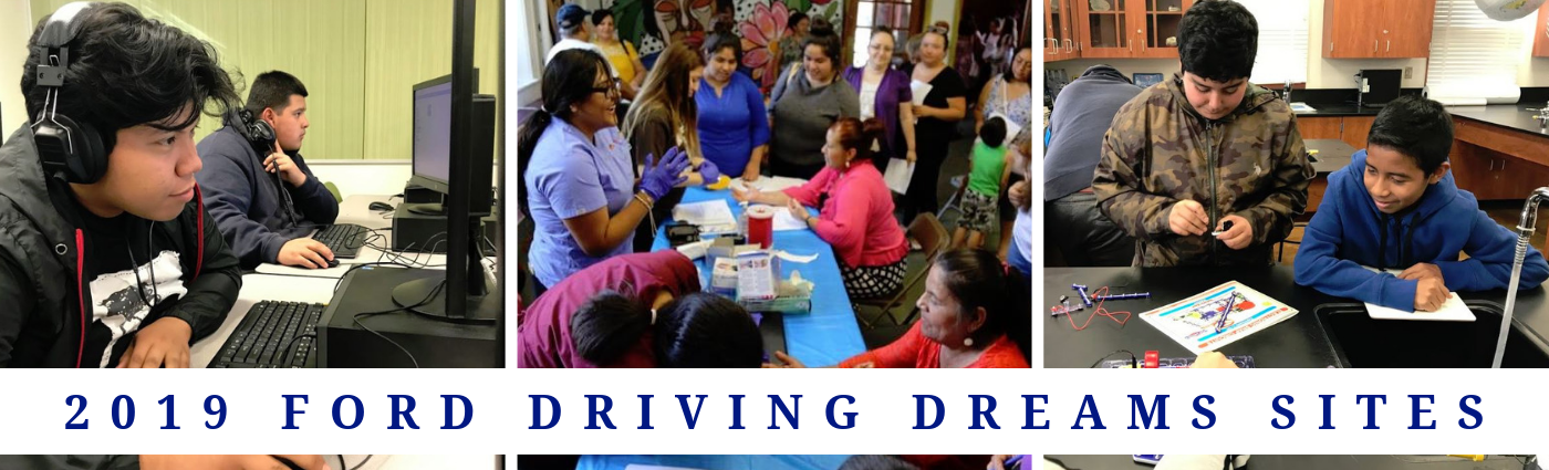 2019 Ford Driving Dreams Grants Program Sites